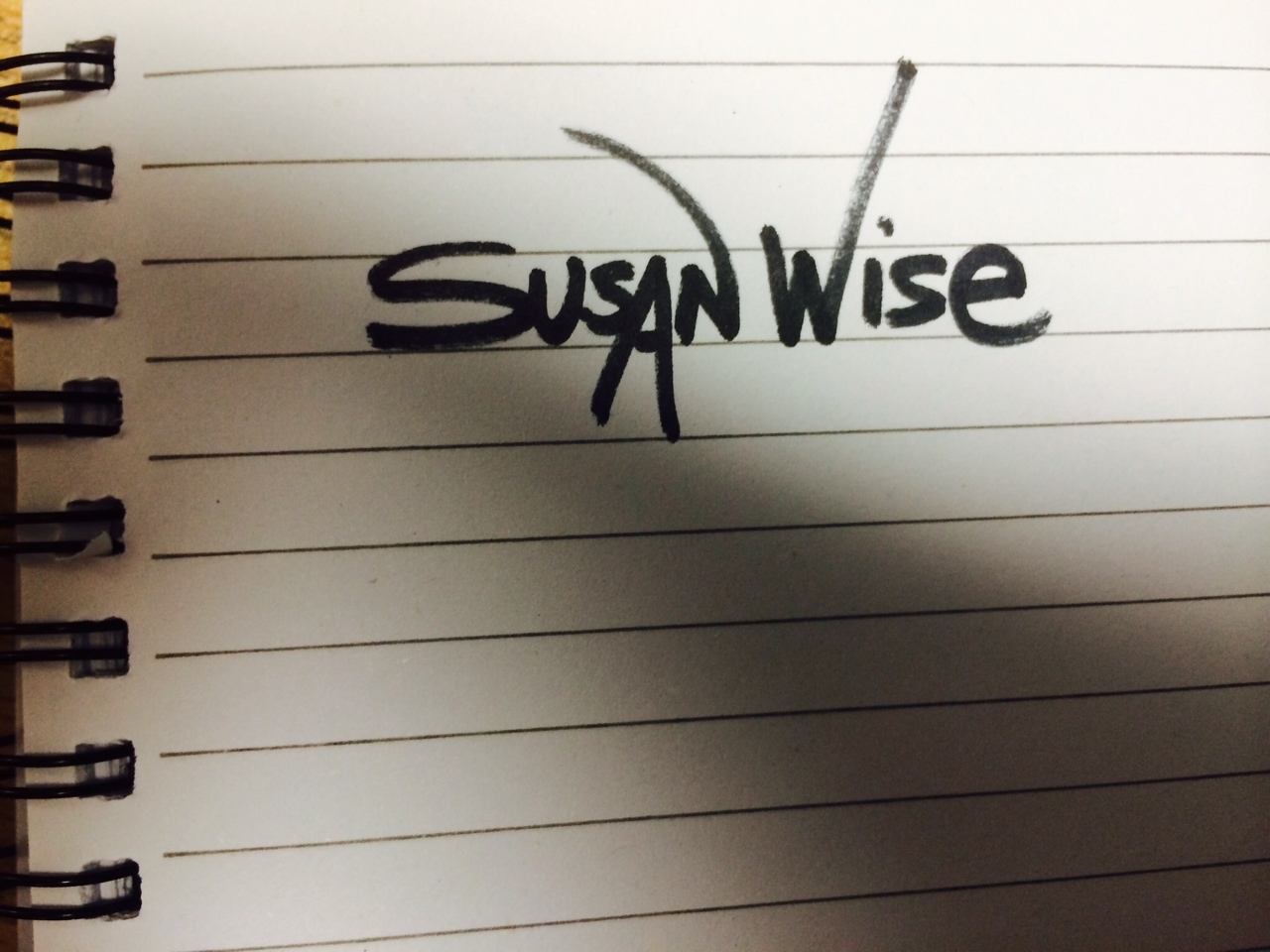 Susan Wise's Signature