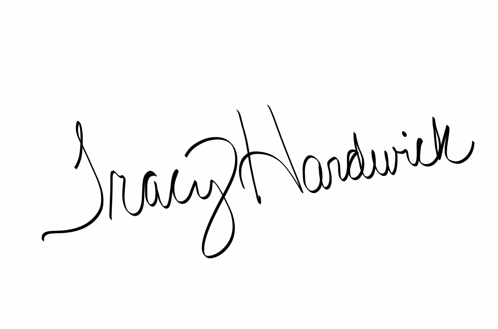 Tracy Hardwick's Signature