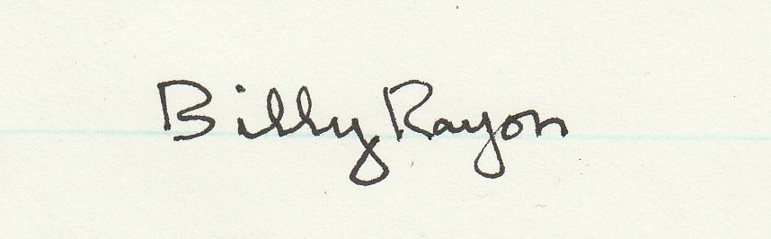 Billy Rayon's Signature