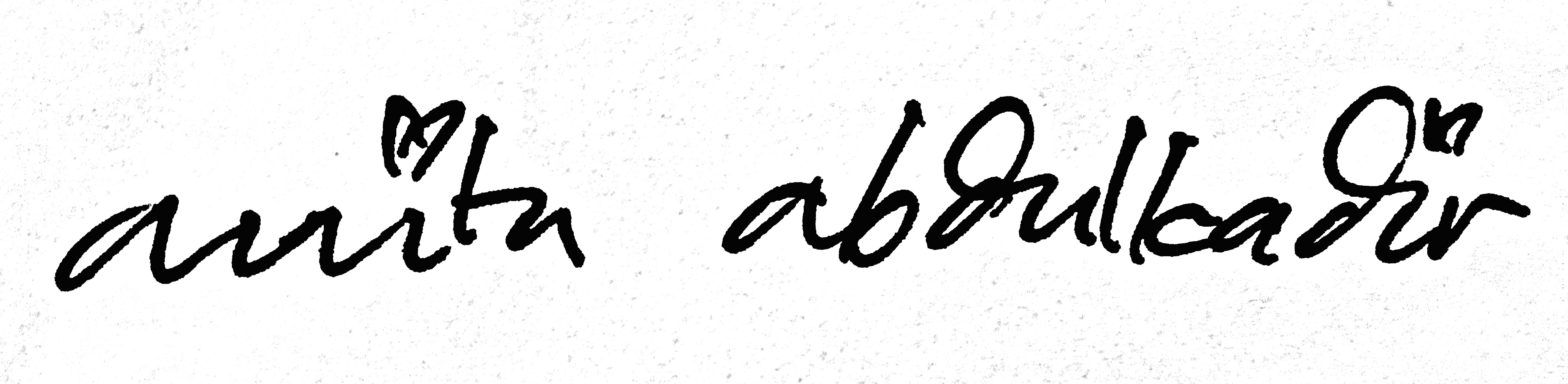 Anita Abdulkadir's Signature