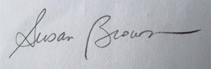 susan Q brown's Signature