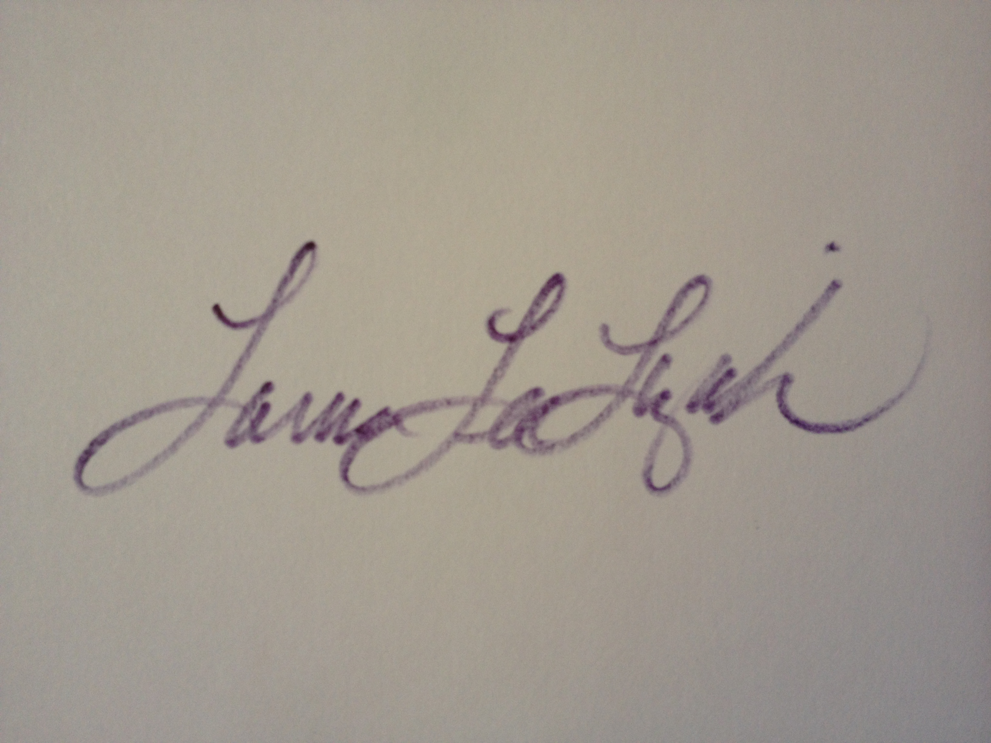 Laura Lee Lizak's Signature