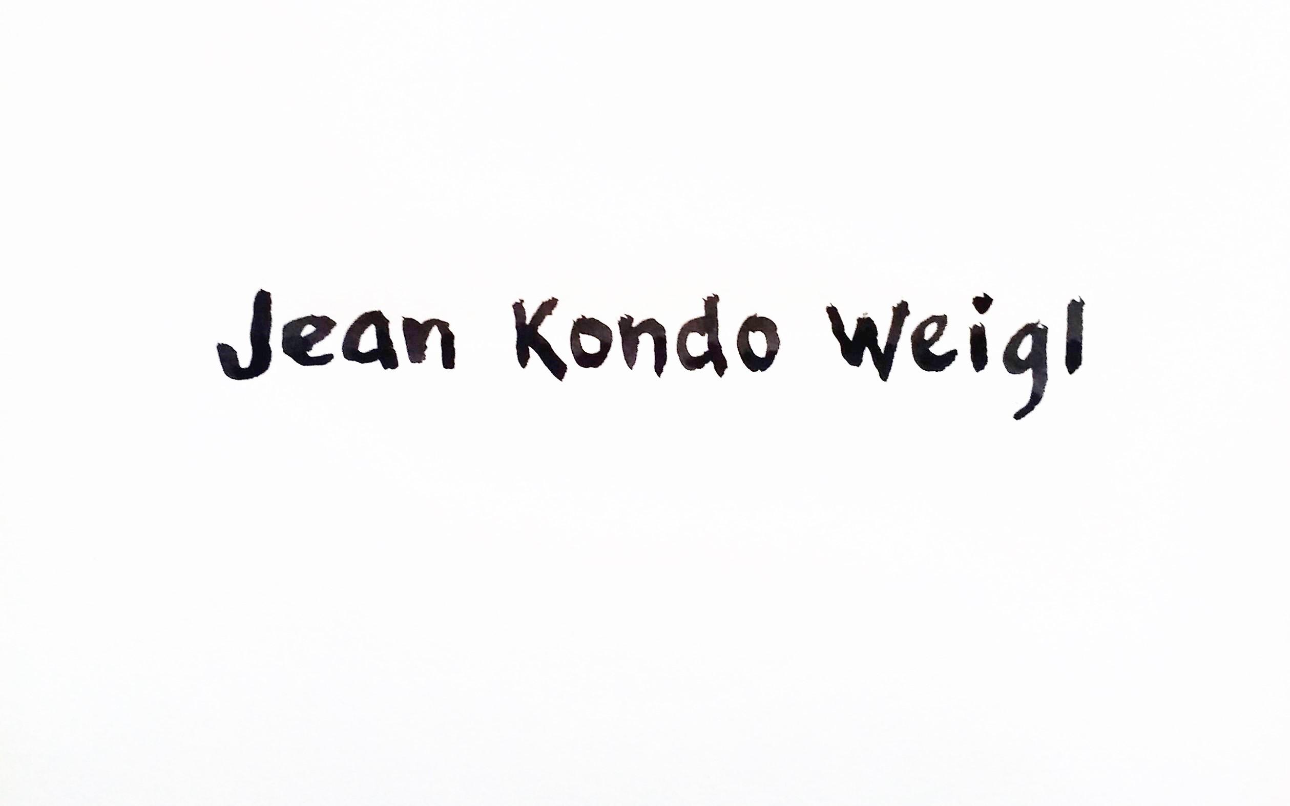 Jean Kondo Weigl's Signature