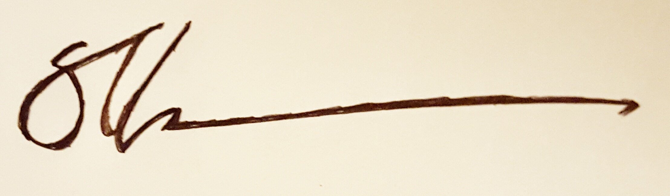 Stuart Ellesmere's Signature
