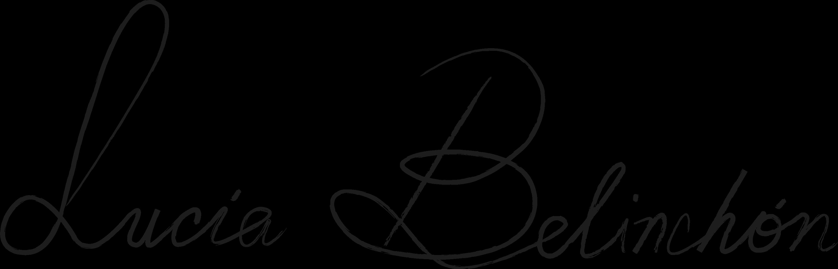 Lucia Belinchon's Signature