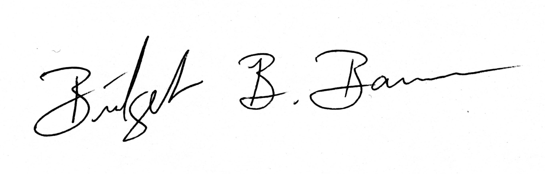 Bridget Barnes's Signature