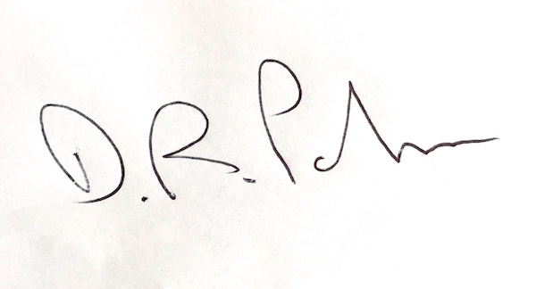 David Parker's Signature
