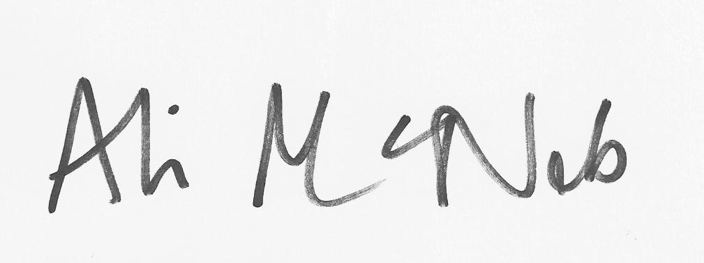 Ali McNab's Signature