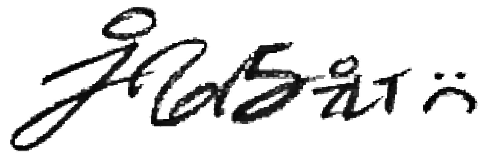Justin Fleurimond Menard's Signature