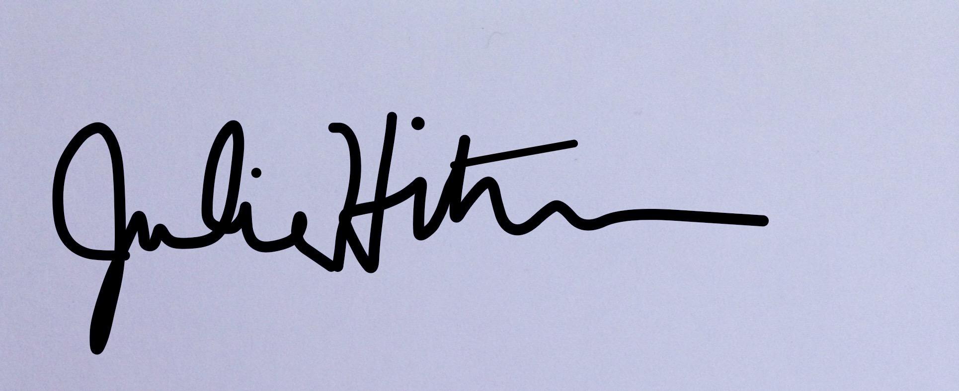 Julie Hiltbrunner's Signature