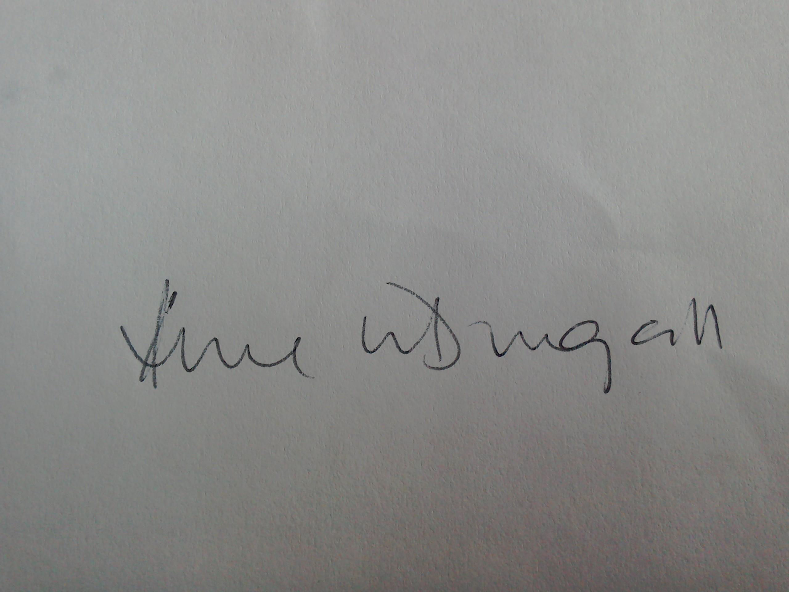 Anne Mcdougall's Signature