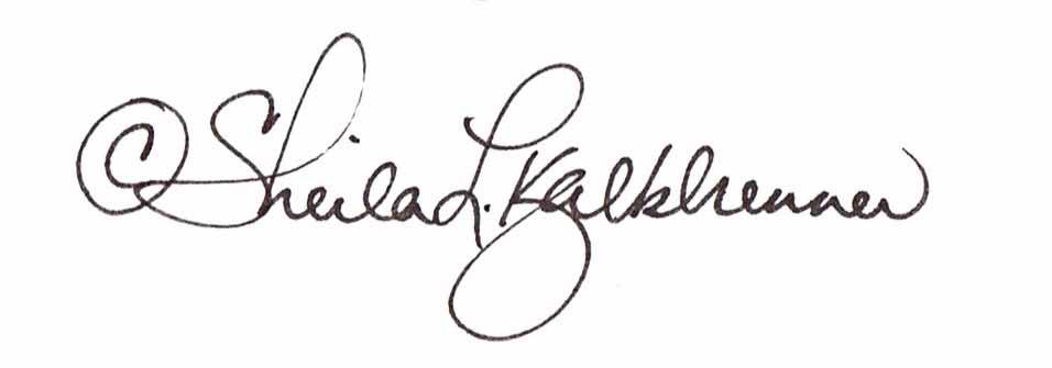 Sheila  Kalkbrenner's Signature