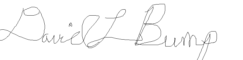 David Bump's Signature