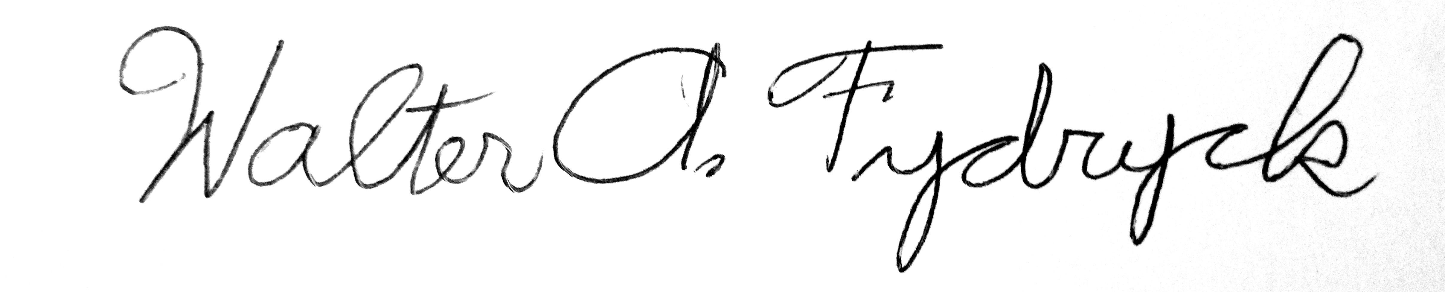 Walter Fydryck's Signature