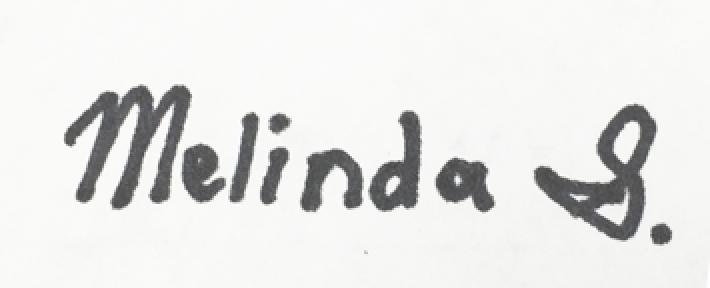 melinda shu's Signature