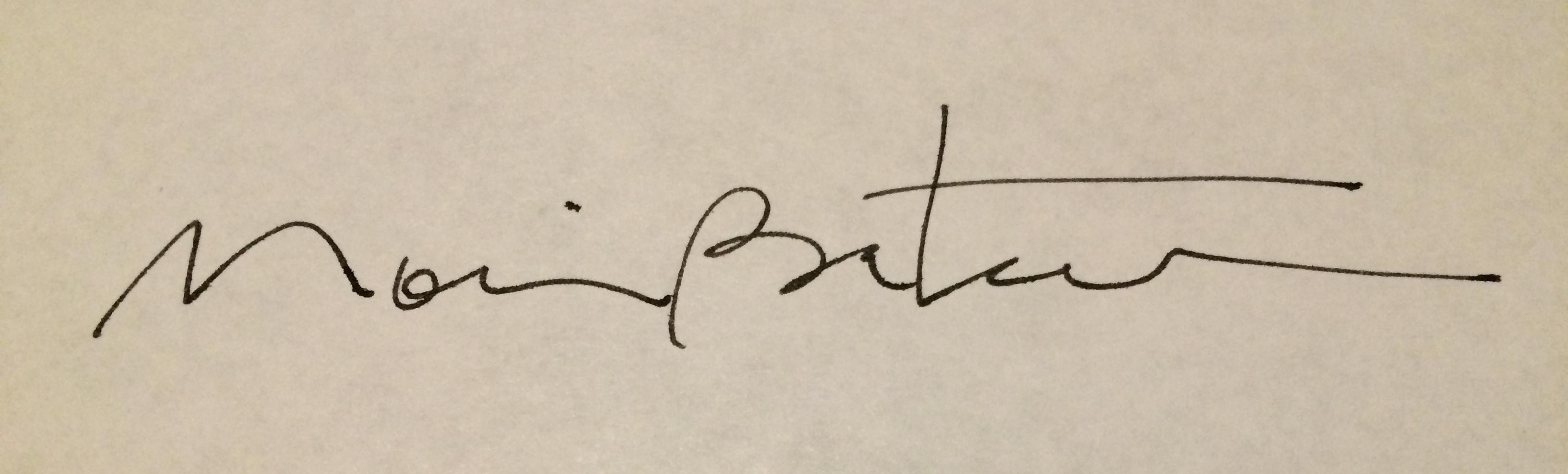 Moira Bateman's Signature