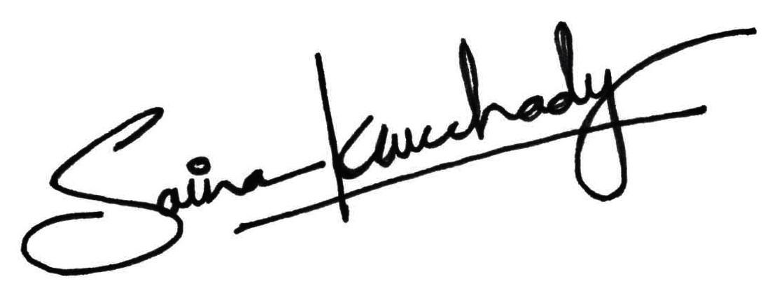 Saina Konchady's Signature