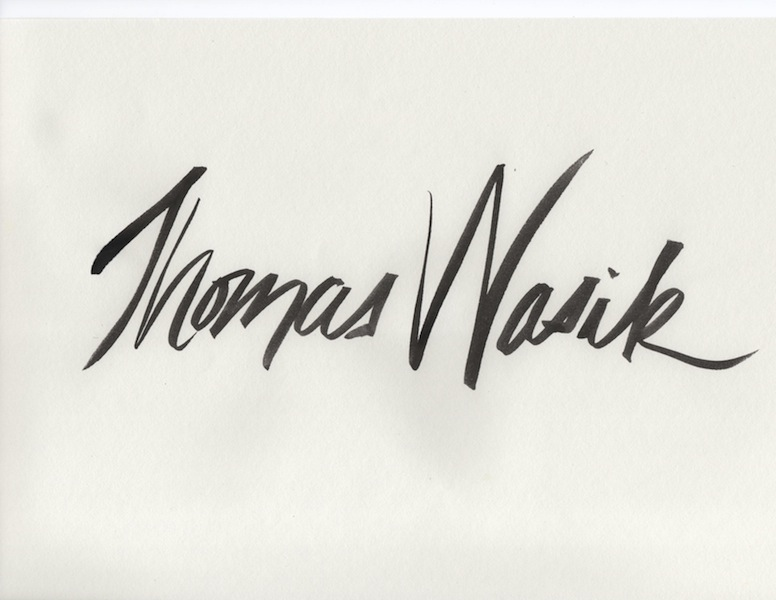 Tom Wasik's Signature