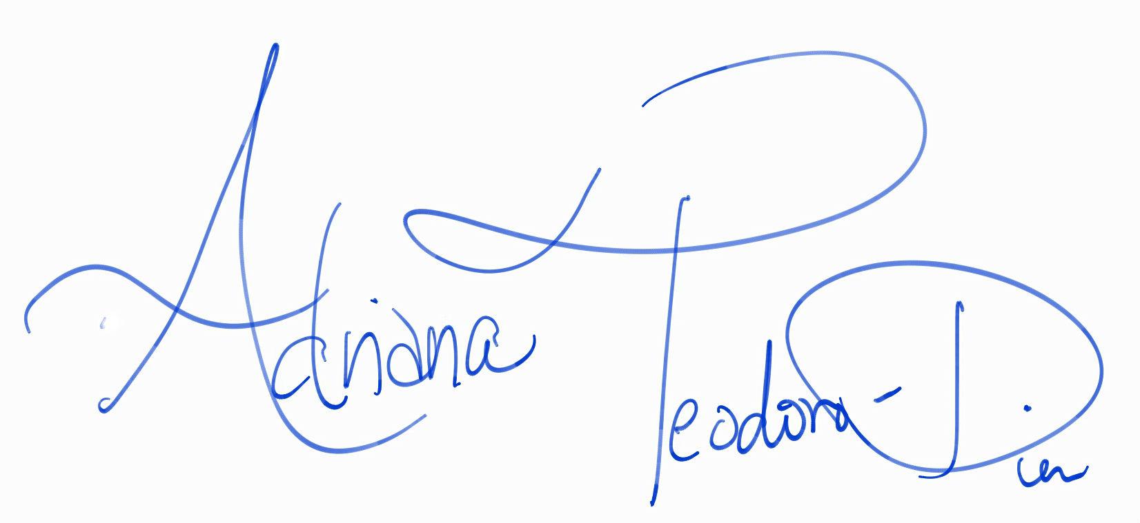 Adriana Teodoro-Dier's Signature