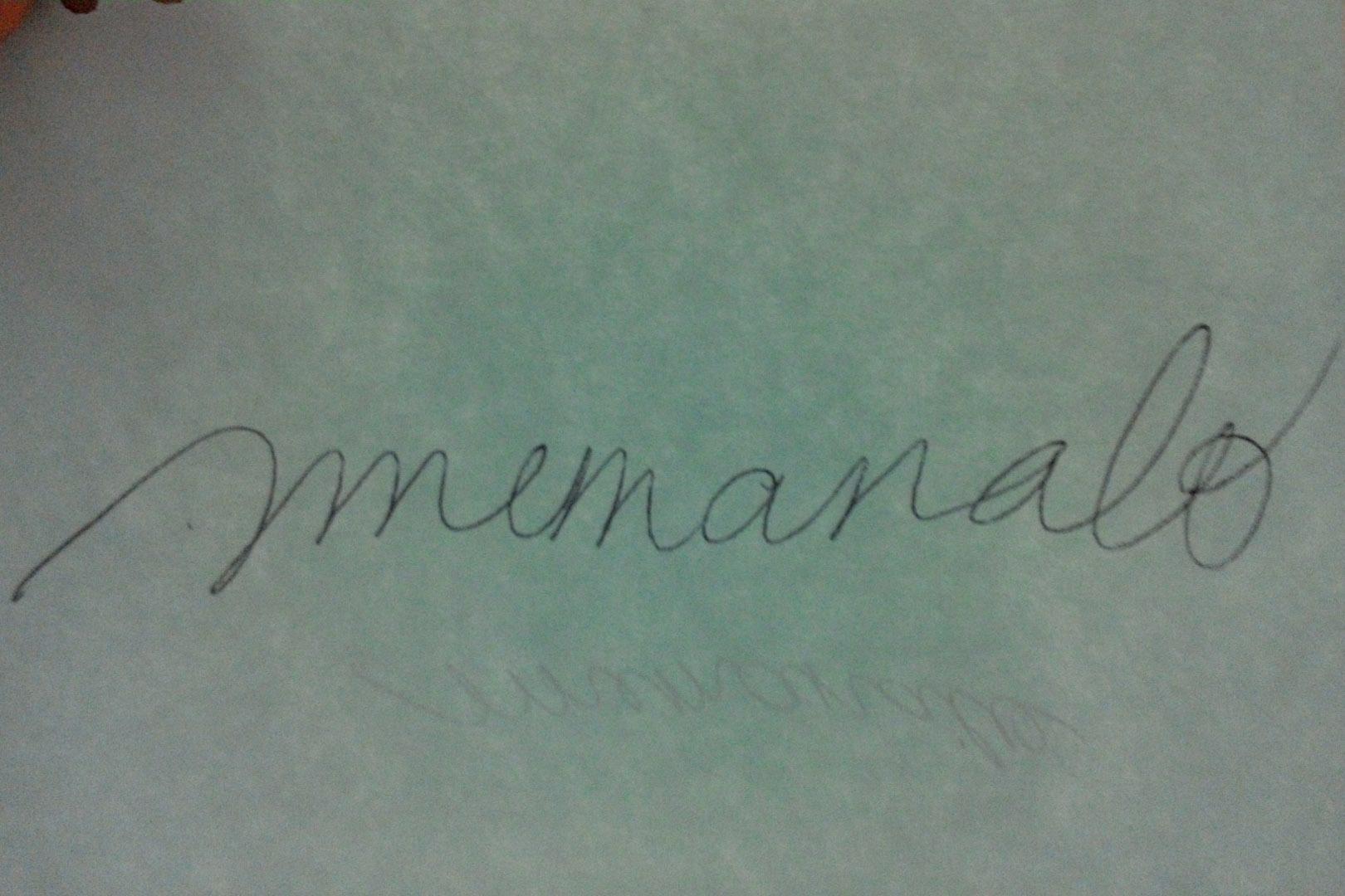 Martina  Manalo's Signature