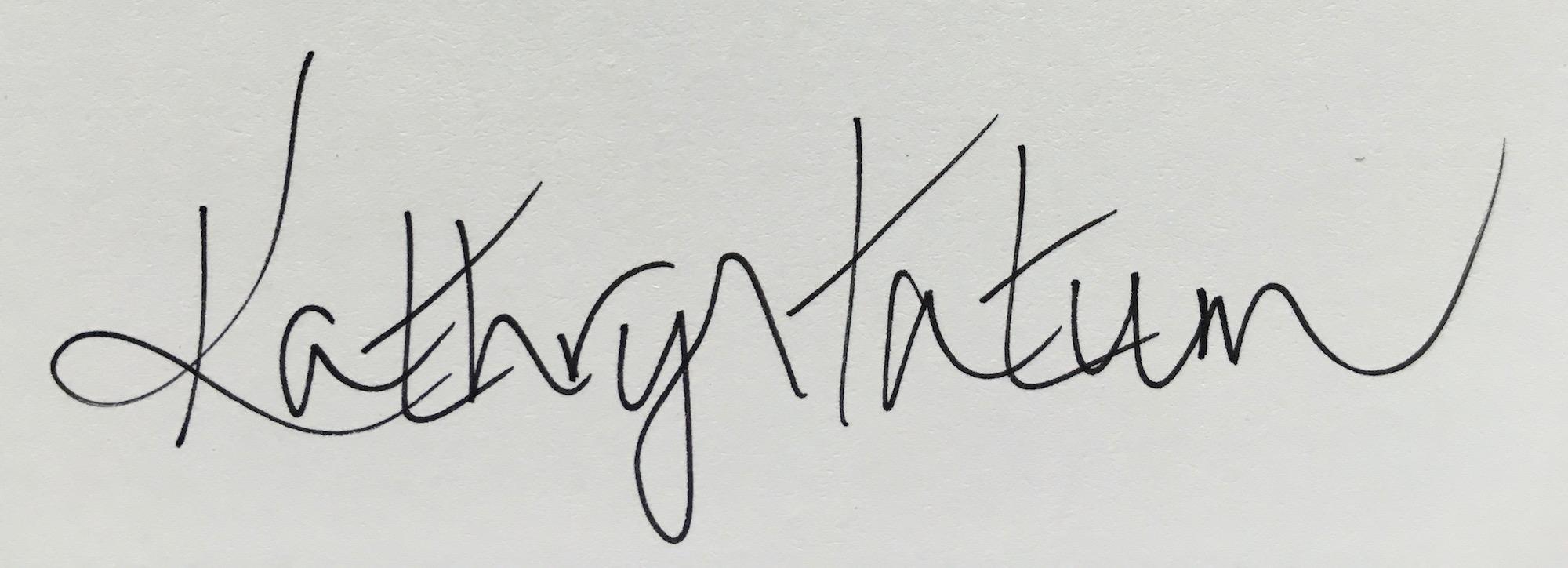 Kathryn Tatum's Signature