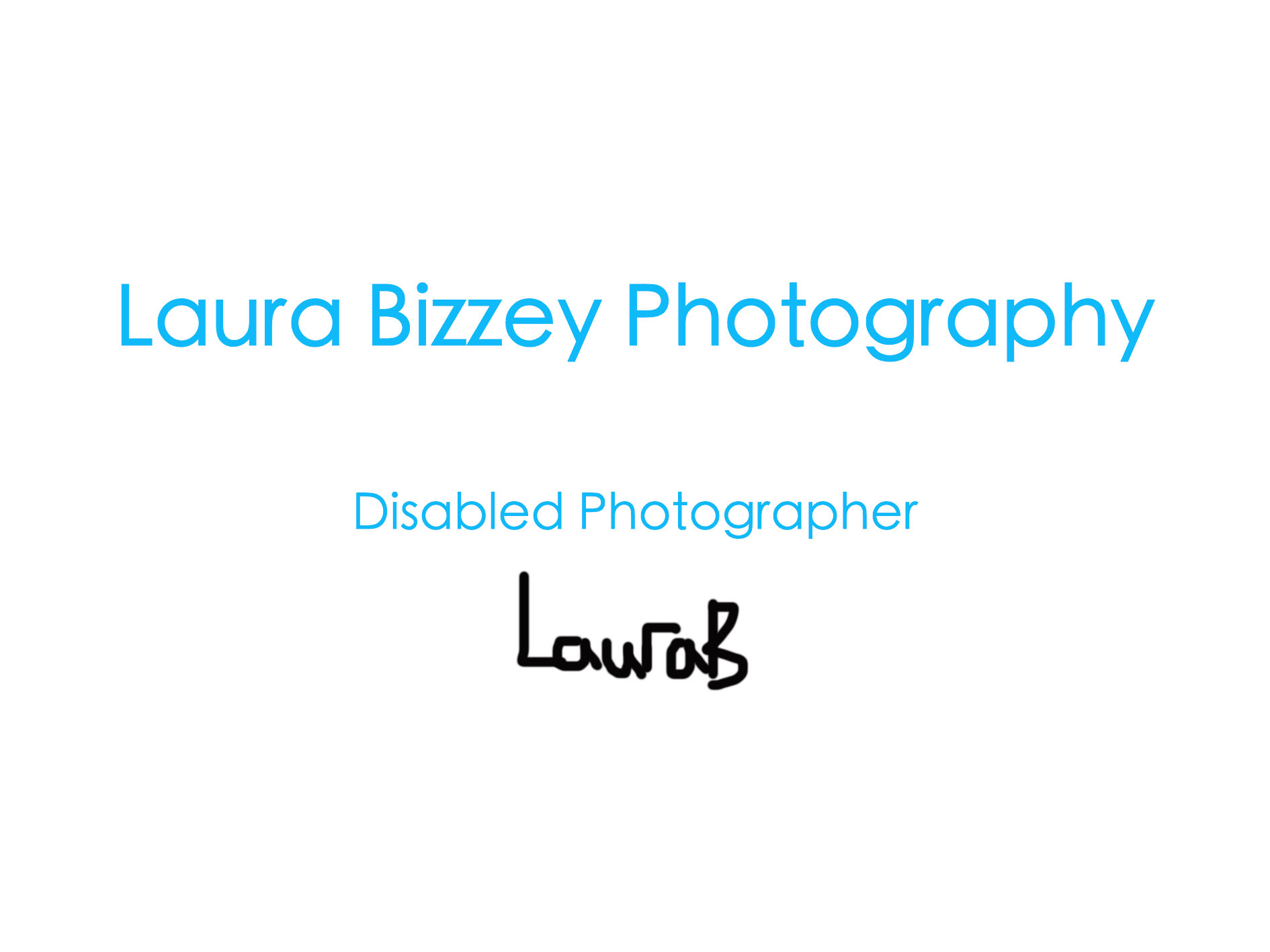 Laura Bizzey's Signature