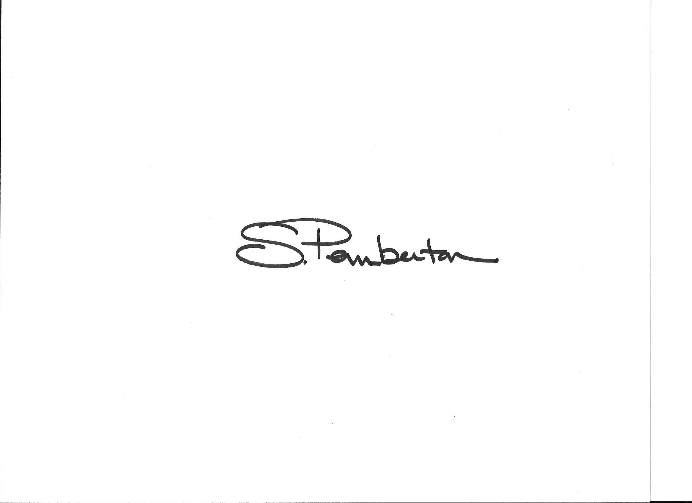 Suzanne Pemberton's Signature