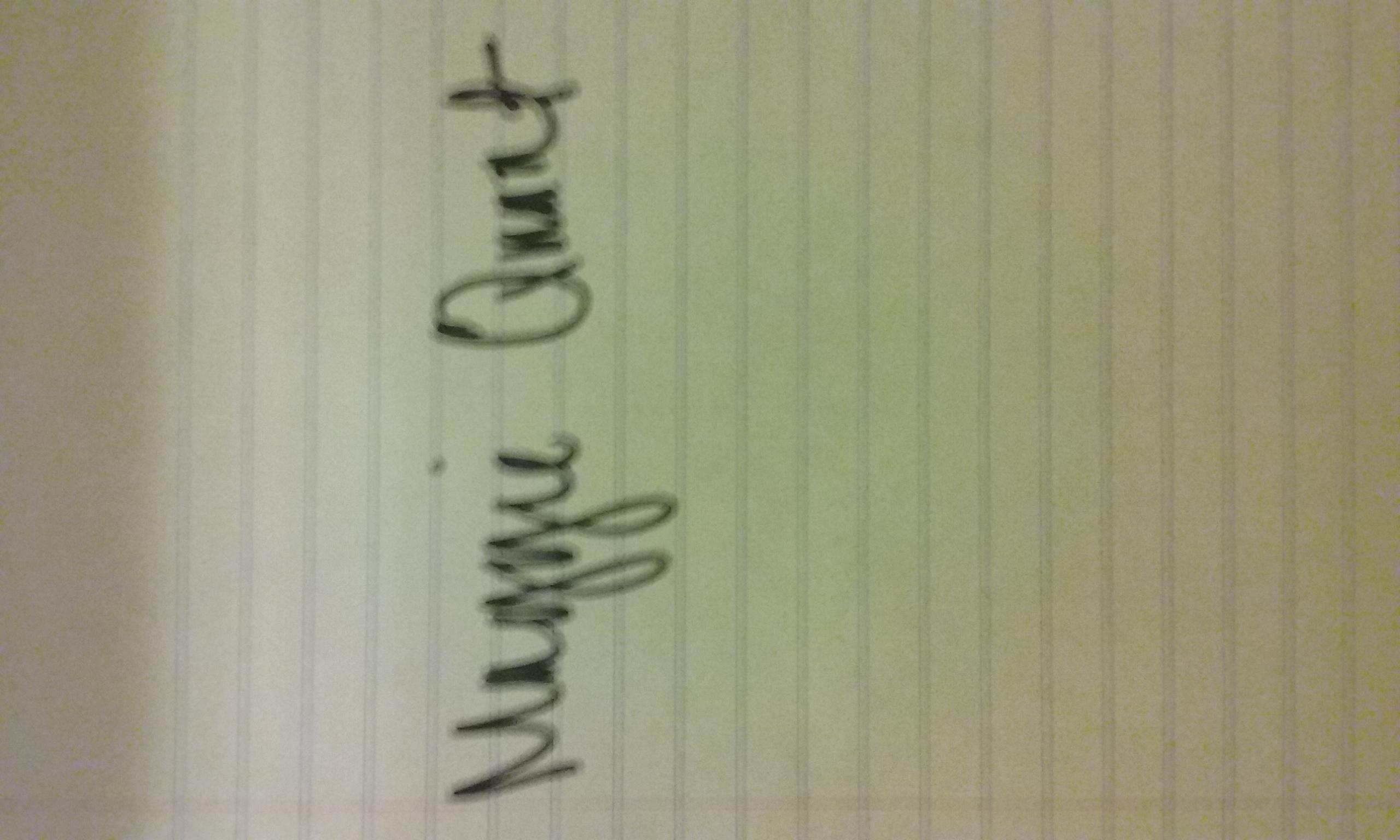 maggie quant's Signature