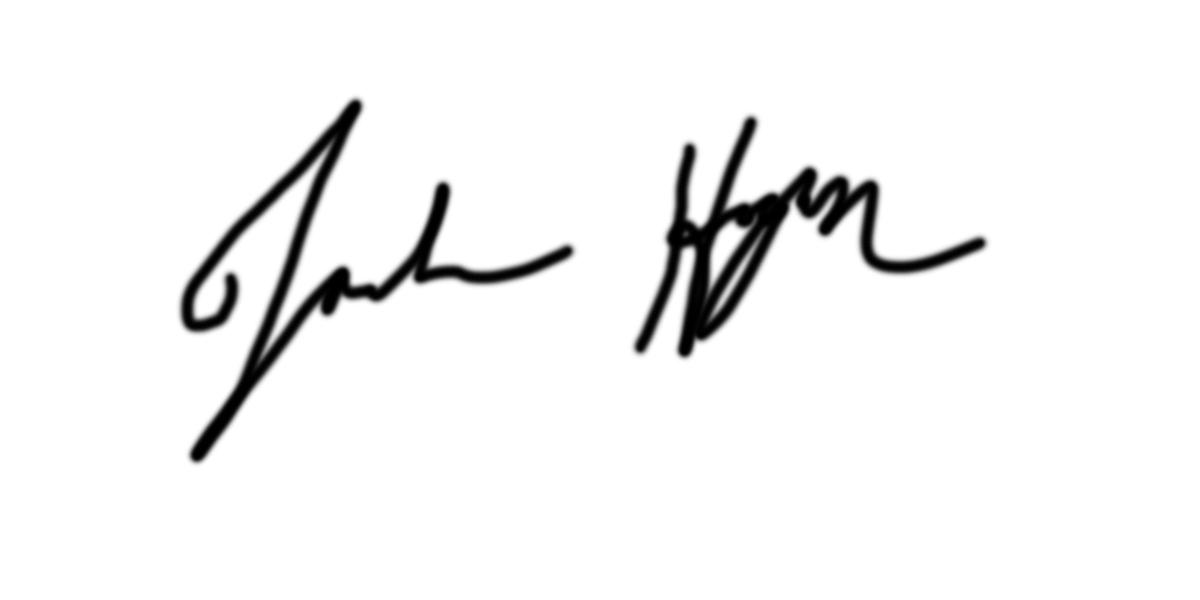 Joshua Hogan's Signature