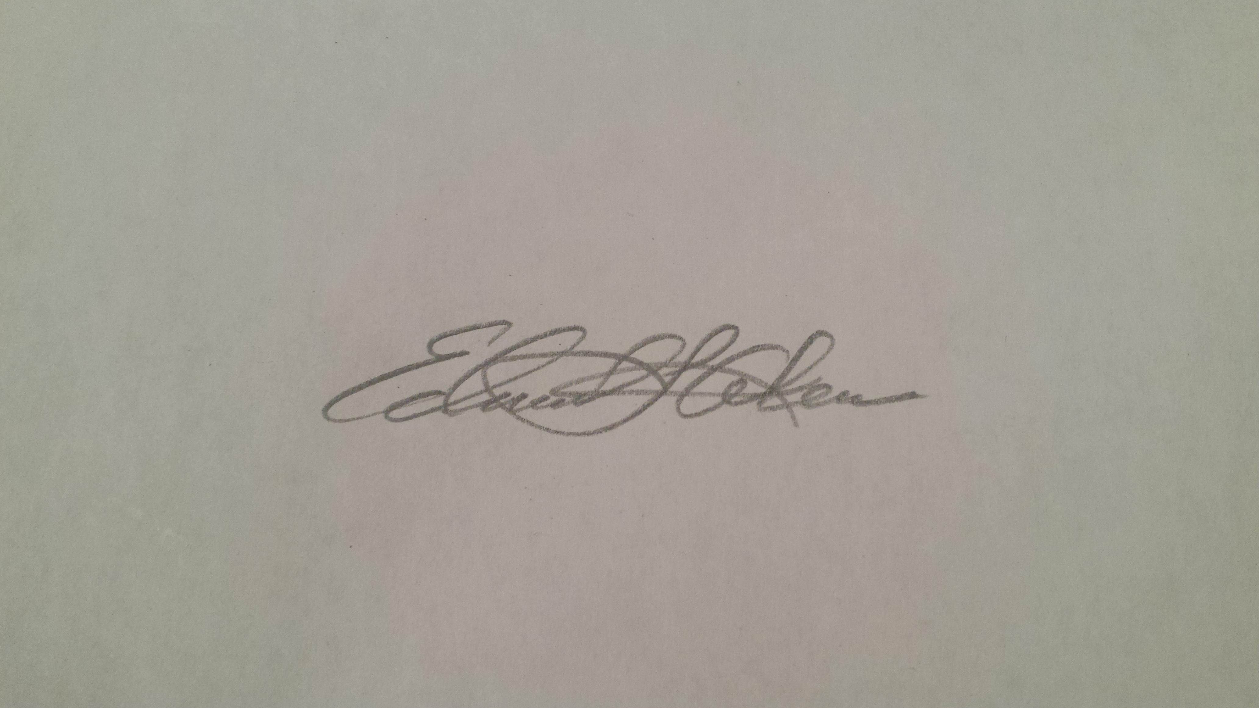 Edmund Akers's Signature