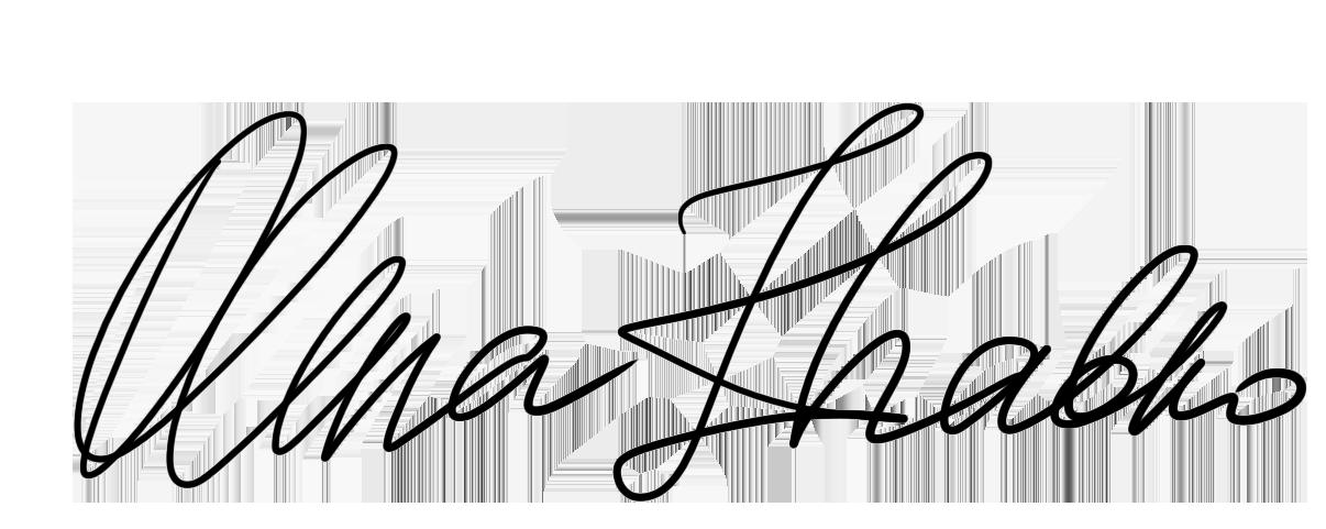 Olena Zhabko's Signature