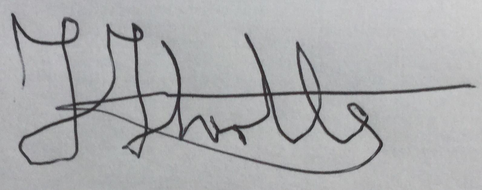 Felicity Thirtle's Signature
