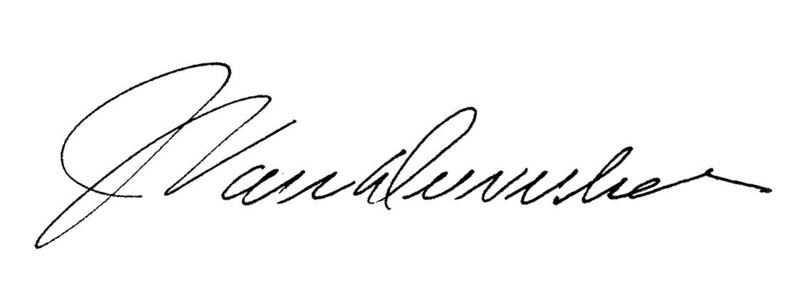 JoHn VanDewerker's Signature