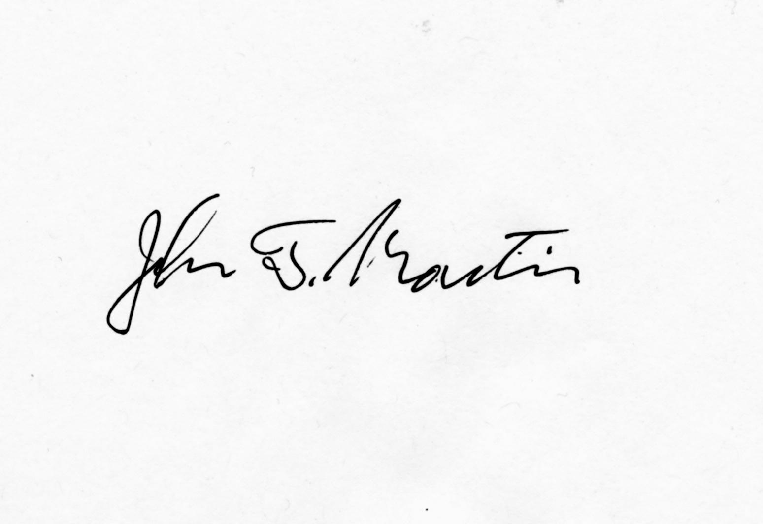 John Martin's Signature