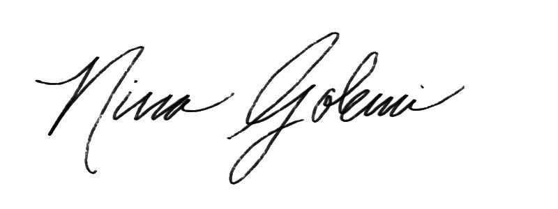 Nina golemi's Signature