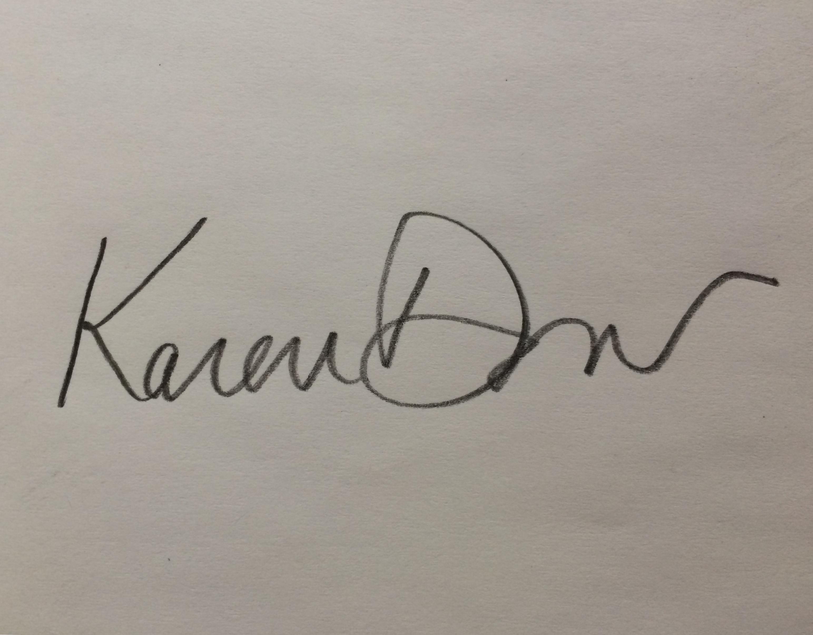 Karen Dow's Signature