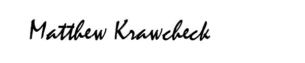 Matthew Krawcheck's Signature