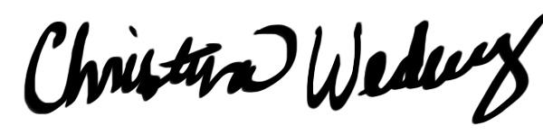 Christina Wedberg's Signature