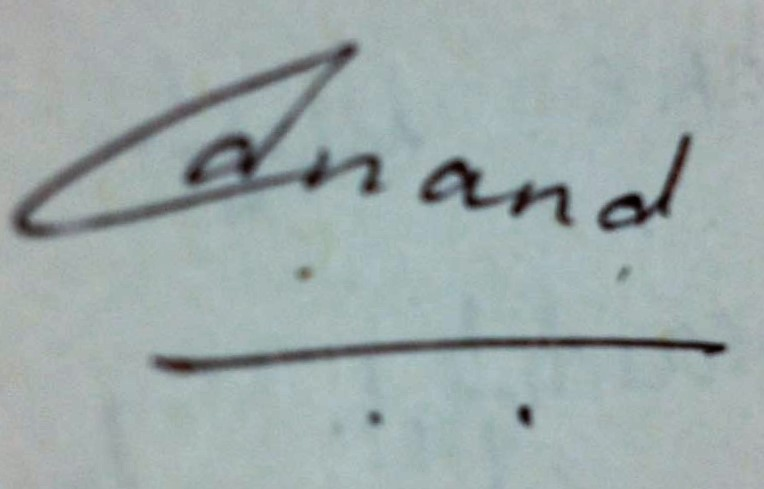 Anand Agarwal's Signature