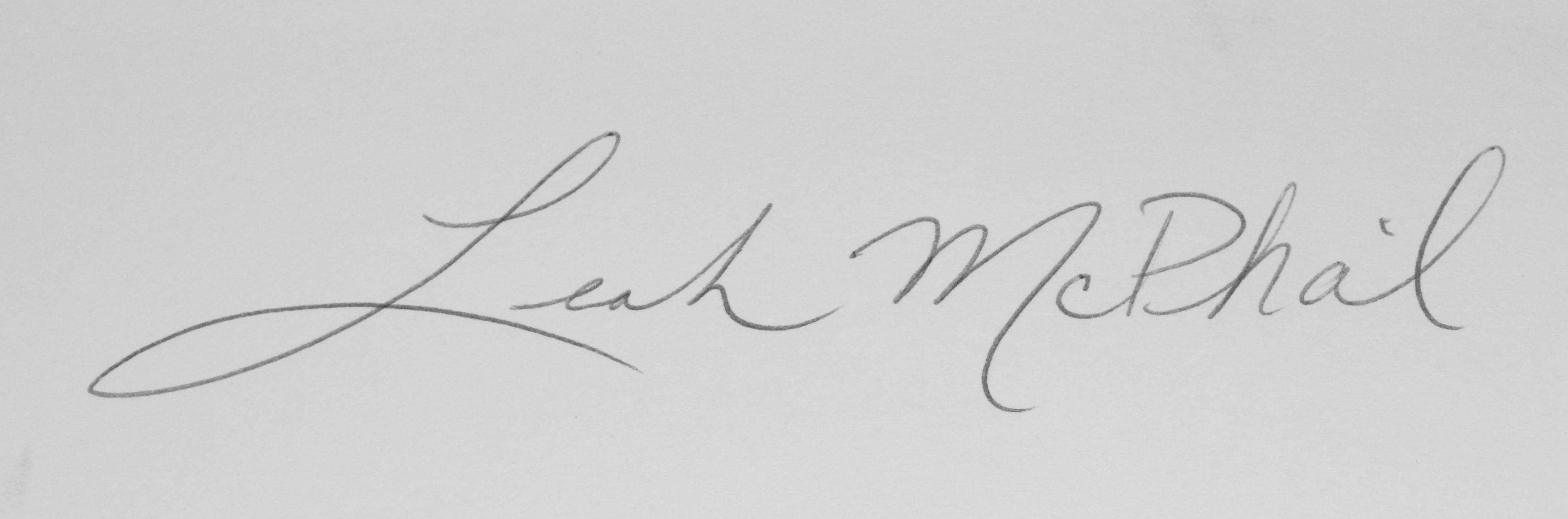 Leah McPhail's Signature