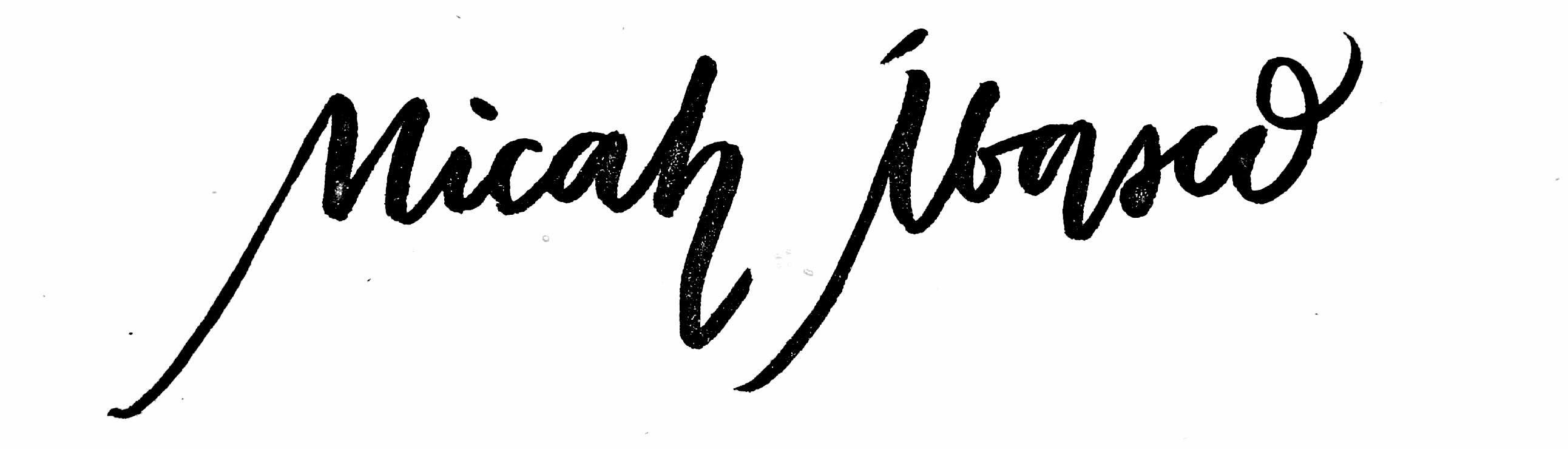 Micah Eunice Ibasco's Signature