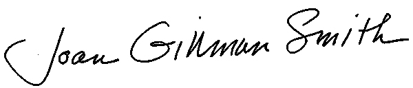 Joan Gillman Smith's Signature