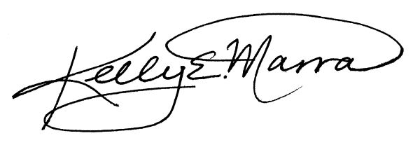 Kelly e. Marra's Signature