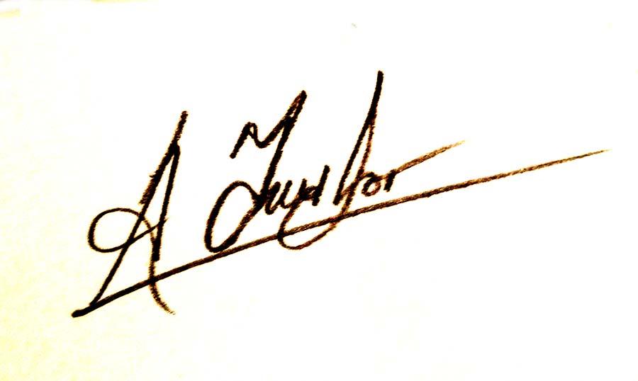 Alan Taylor's Signature