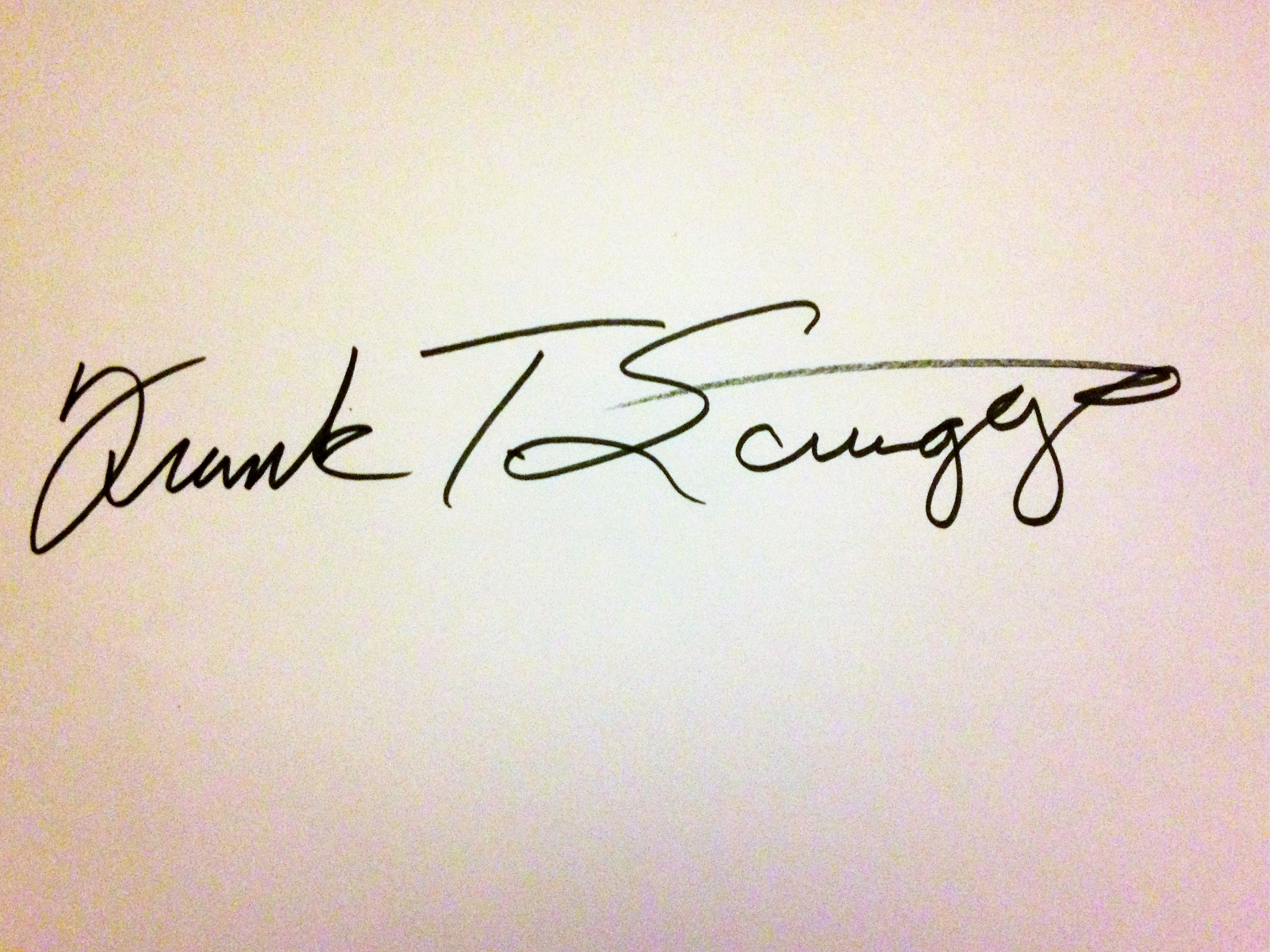 Frank Scruggs's Signature
