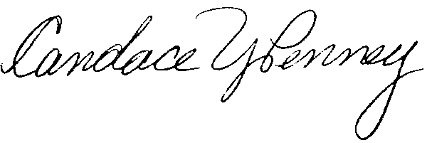 Candace Penney's Signature