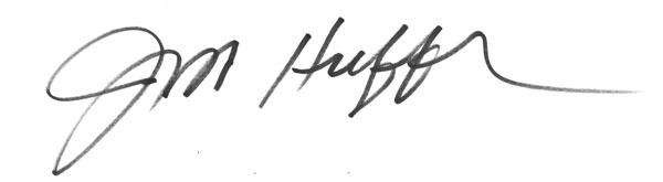 James Huffer's Signature