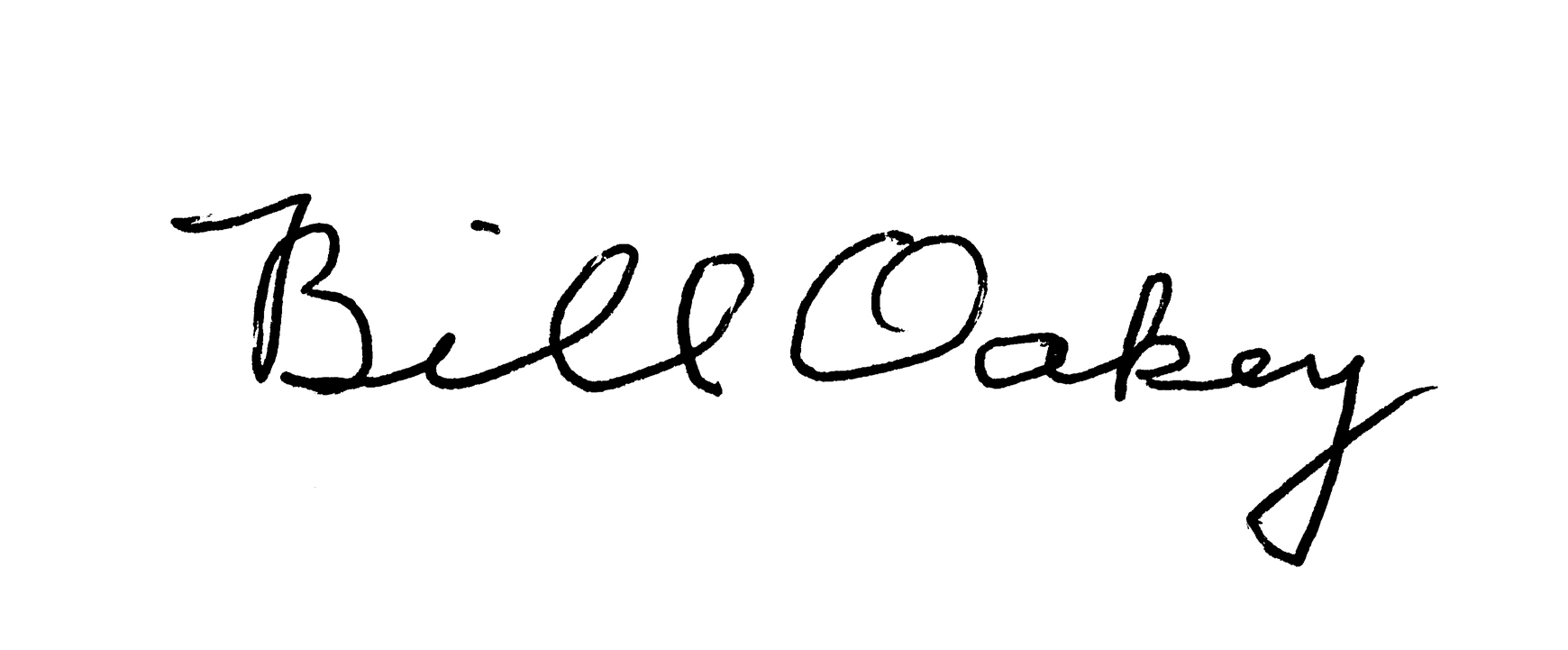 Bill Oakey's Signature
