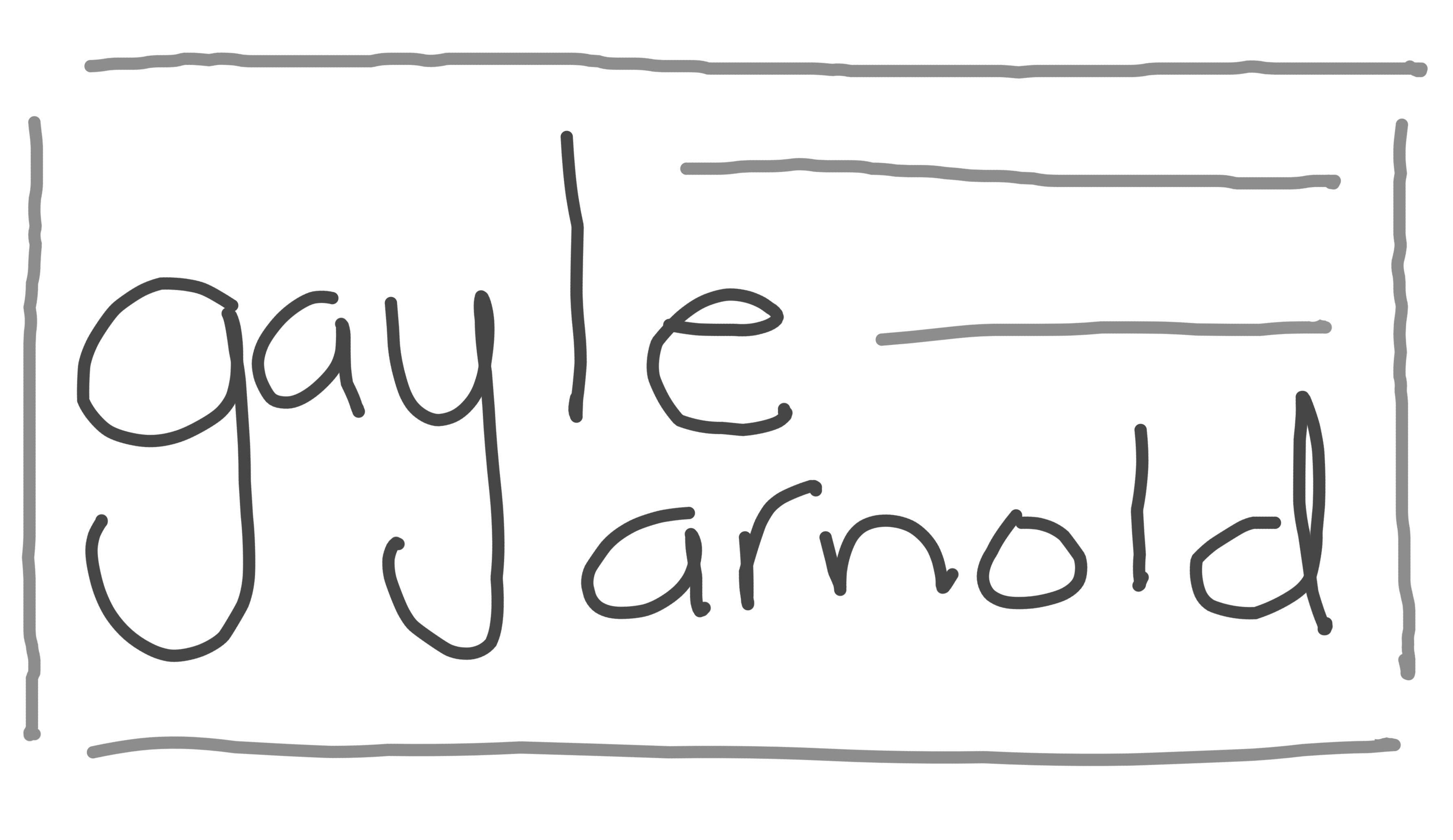 Gayle Arnold's Signature