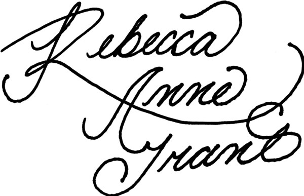 Rebecca Grant's Signature